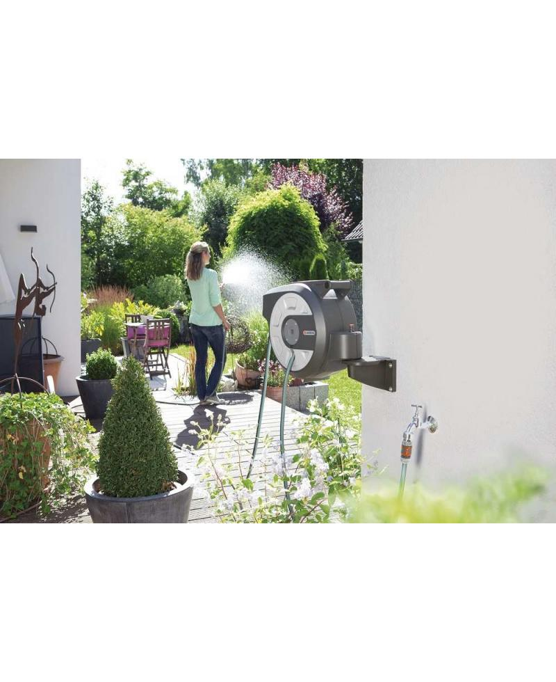 Катушка со шлангом Gardena City gardening 15 Roll-Up Automatic настенная (18402-25)