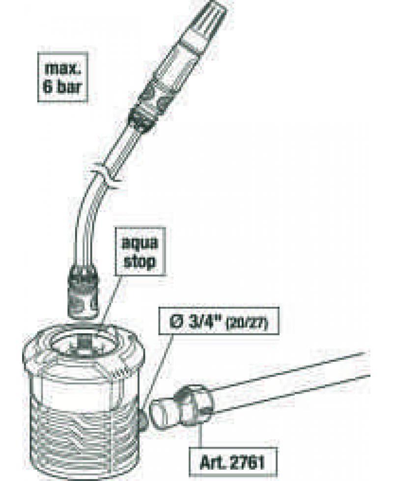 З'єднувач Gardena Quick & Easy 32 мм х 3/4 внутрішня різьба (02768-20)
