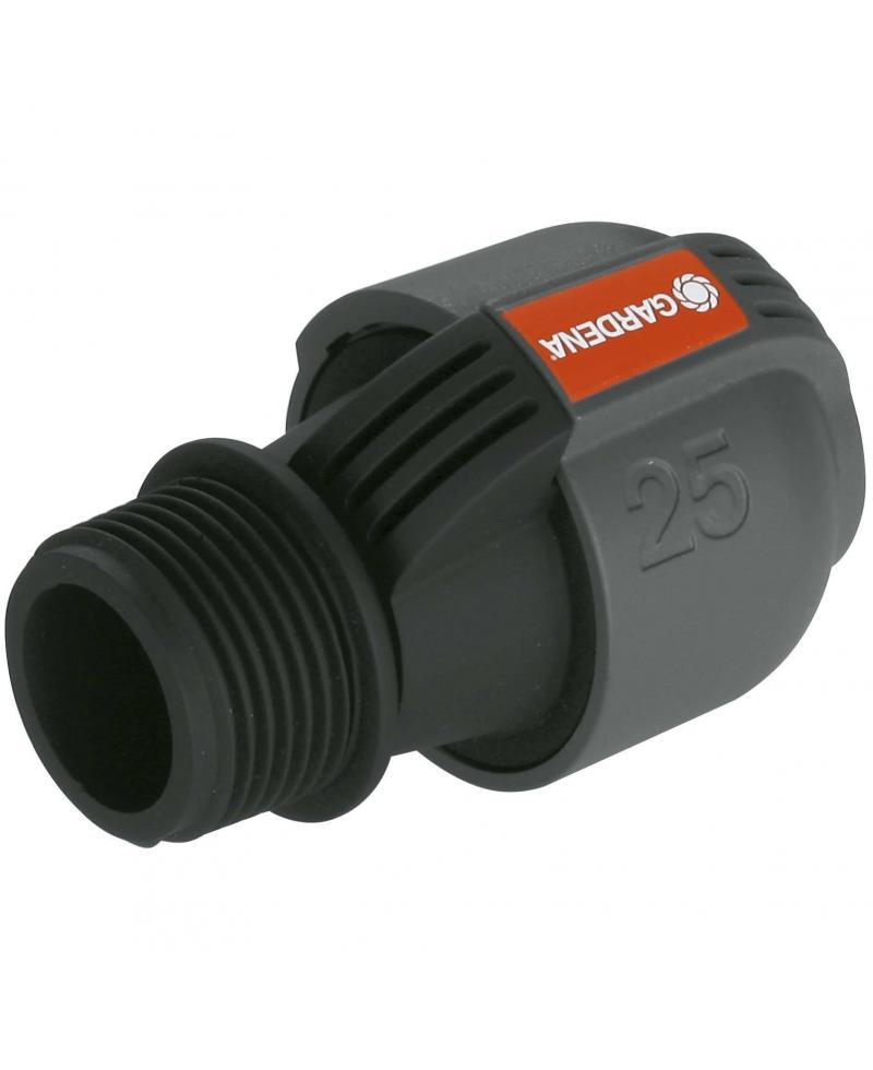 З'єднувач Gardena Quick & Easy 25 мм х 1 зовнішня різьба (02763-20)