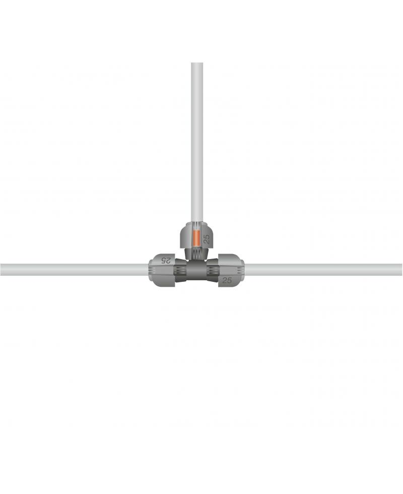 Соединитель T-образный Gardena Quick & Easy 25 мм (02771-20)