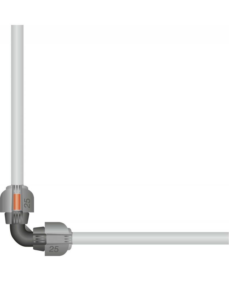 З'єднувач L-подібний Gardena Quick & Easy 25 мм (02773-20)