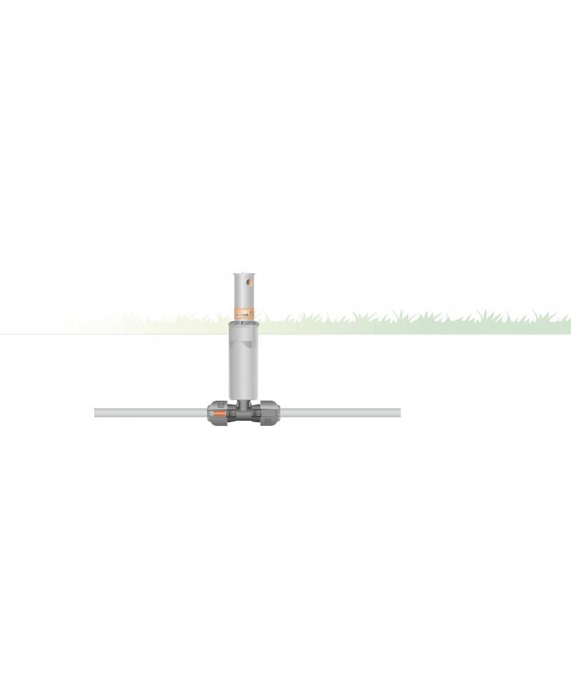 З'єднувач T-подібний Gardena Quick & Easy з зовнішньою різьбою 25 мм х 1/2 (02786-20)