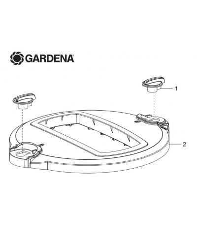 Крышка с фиксаторами для дождевателя Gardena OS 140 (08220-00.740.00)