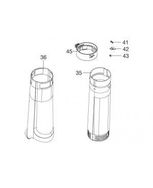 Комплект труб на всмоктування для пилососа/повітродувки Gardena ErgoJet 2500, 3000 (09332-00.902.00)
