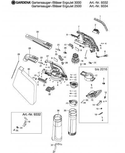Ручка для пылесоса/воздуходувки Gardena ErgoJet 2500, 3000 (00057-94.198.01)