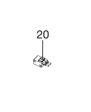 Выключатель для пылесоса/воздуходувки Gardena ErgoJet 3000 (09332-00.900.07)