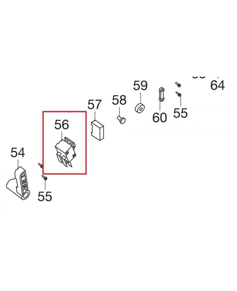 Микровыключатель для электропил Gardena CST 3518, 3519-X (62557-42.764.01)