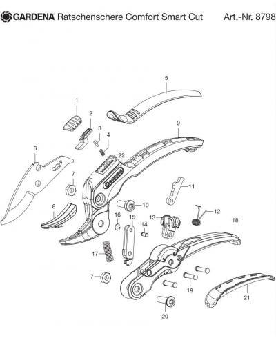Заклепка для секатора Gardena SmartCut (08798-00.600.49)