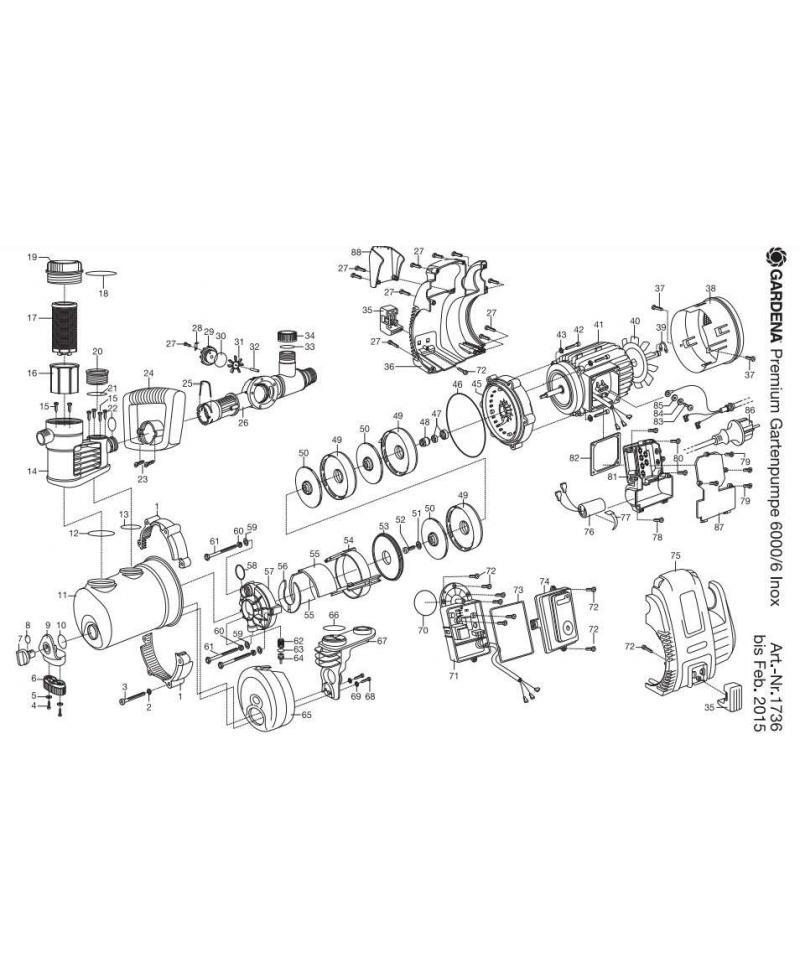 Диффузор для насоса Gardena Premium 6000/6 Inox (01736-00.900.07)