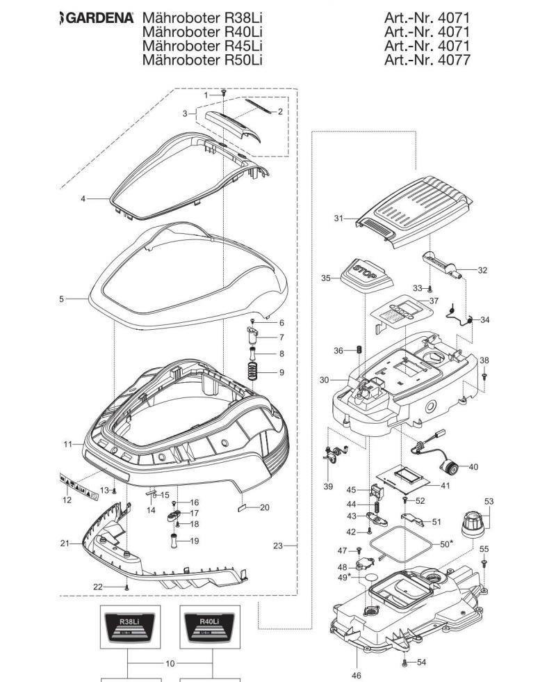 Демпфер резиновый для роботов-газонокосилок Gardena (00057-44.691.02)
