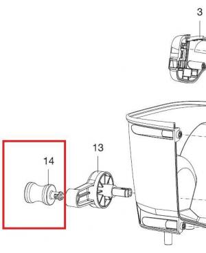 Ручка приводная для разбрасывателя-сеялки Gardena M 431-20 (00431-00.600.61)