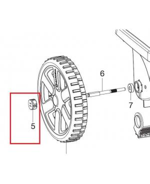 Заглушка колеса для разбрасывателя-сеялки Gardena L 432-20 (00432-00.600.11)