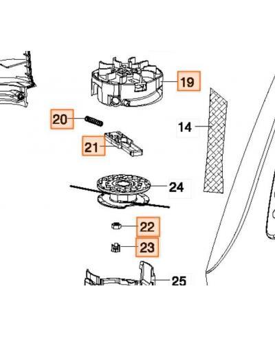 Корпус триммерной головки для Gardena SmallCut 300 (08845-00.900.11)