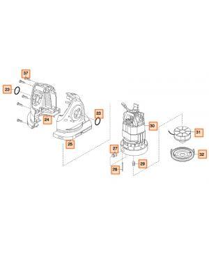 Электродвигатель в сборе для турботриммера Gardena ComfortCut 450 (08847-00.751.00)