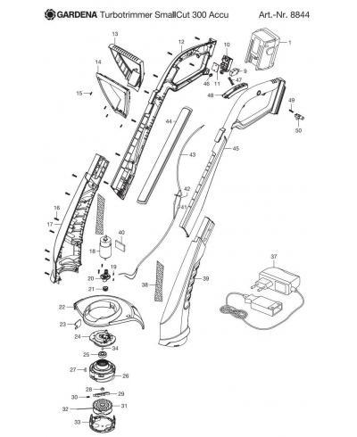 Касета змінна 1.5 мм 10 м для Gardena SmallCut 300 Accu, SmallCut 300, EasyCut Li-18/23, ComfortCut Li-18/25 (05306-20)