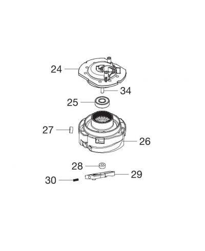 Корпус триммерной катушки для Gardena SmallCut 300 Accu (08844-00.900.02)