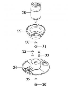 Электродвигатель в сборе для триммера Gardena EasyCut Li-18/23R (09825-00.615.00)