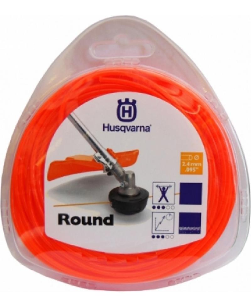 Волосінь для мотокос/триммеров Husqvarna 2.4мм х 90м кругла, помаранчева (5784375-01)