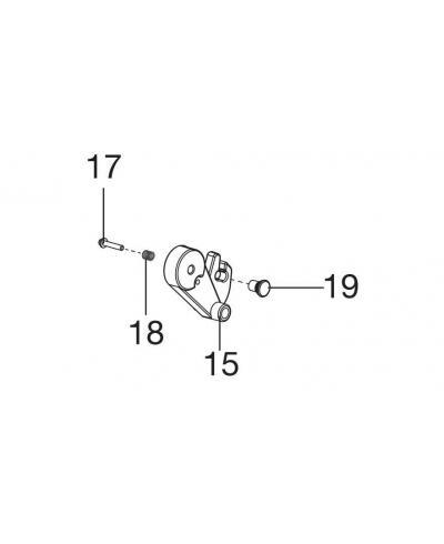 Фиксатор высоты скашивания левый для Gardena Classic 330, Classic 400, Comfort 400 С (04018-00.640.00)