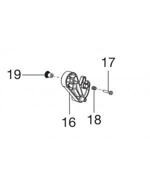 Фиксатор высоты скашивания правый для Gardena Classic 330, Classic 400, Comfort 400 С (04018-00.630.00)