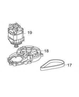Электродвигатель в комплекте для газонокосилки Gardena PowerMax 36E - до 2013 года выпуска (00057-96.575.01)