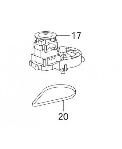 Електродвигун в комплекті для газонокосарки Gardena PowerMax 34E (00058-61.697.01)