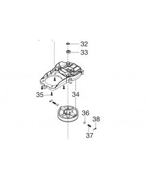 Корпус электродвигателя для газонокосилок Gardena PowerMax 1400/34 (05034-00.901.00)