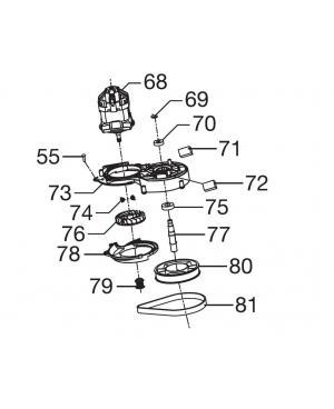 Электродвигатель в комплекте для газонокосилки Gardena PowerMax 1600/37, PowerMax 1800/42 (05037-00.907.00)