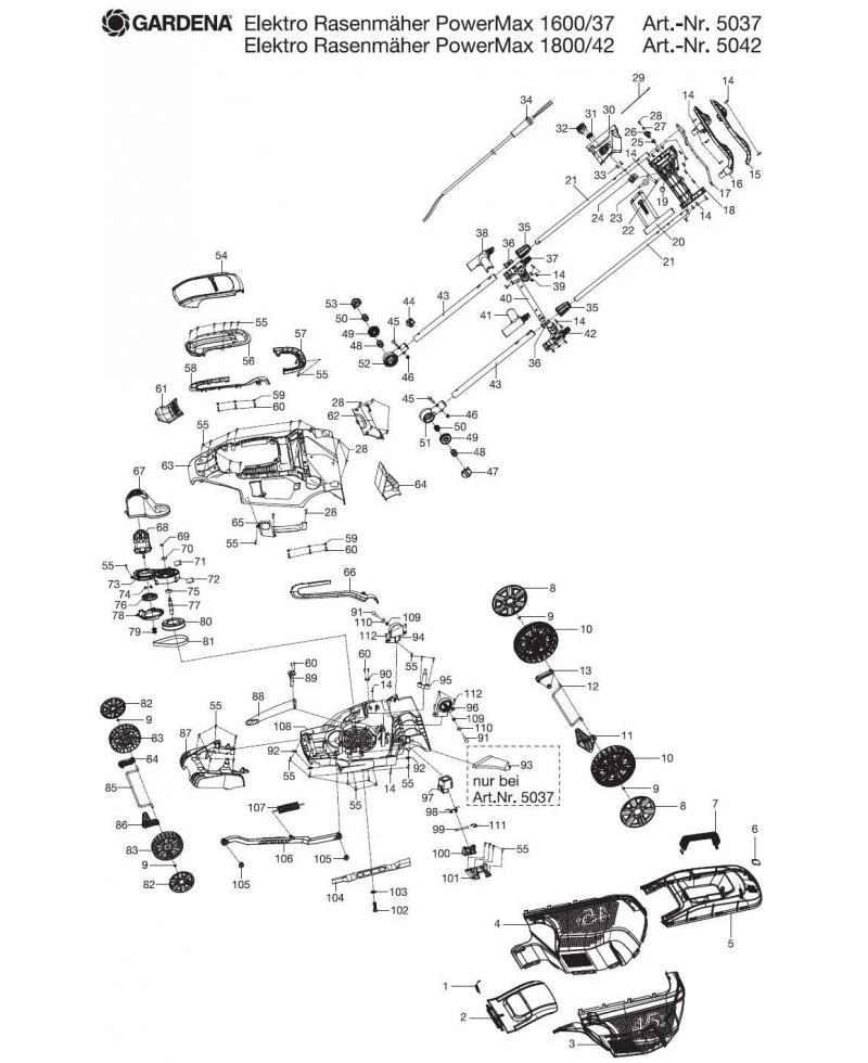 Выключатель Micro Switch для Gardena PowerMax 1600/37, PowerMax 1800/42 (00059-02.515.01)