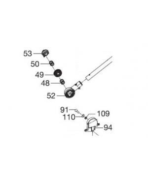 Крепление ручки правое в сборе для газонокосилки Gardena PowerMax 1600/37, PowerMax 1800/42, PowerMax Li-40/37 (05037-00.904.00)