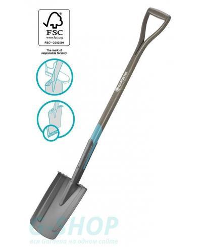 Лопата садовая штыковая Gardena NatureLine D-образная рукоятка 117 см (17000-20)