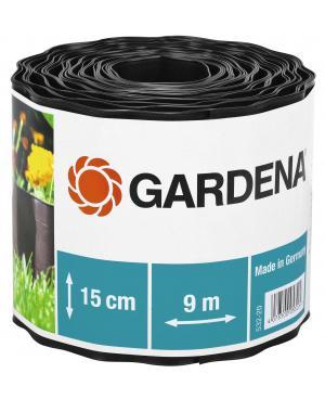 Бордюр садовый черный Gardena 9х15 см (00532-20)