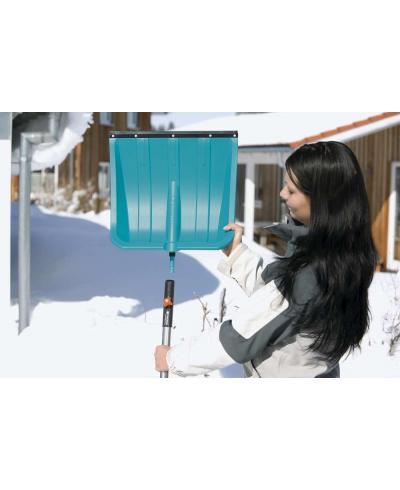 Лопата для уборки снега Gardena 50 см с пластиковой кромкой и ручка алюминиевая 130 см (03241-30)