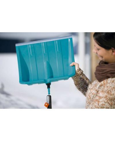 Лопата для уборки снега Gardena 50 см с кромкой из нержавеющей стали c алюминиевой ручкой 130 см (03243-30)